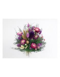 Bouquet floral sec violet...