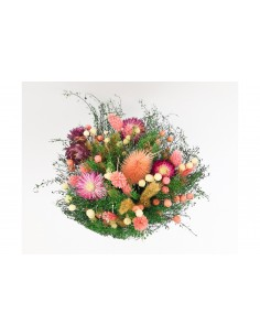 Bouquet floral sec rose de...