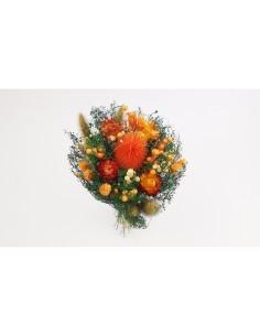 Bouquet floral sec orange...